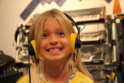 Joyful Noise Girl with Headphones 400